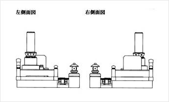 CAD左・右側面図